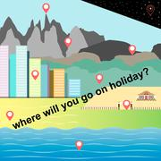 Choice holiday place Stock Illustration