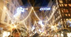 Best European Christmas Market in Strasbourg, France Stock Footage