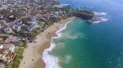 Steady Shot of Laguna Beach, California Stock Footage