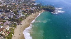 Waves in Crescent Bay, Laguna Beach, California Stock Footage