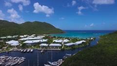 4K aerial of Anse Marcel Marina at St Maarten, Okt 2016 Stock Footage