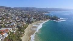 Flying South over Laguna Beach, California Stock Footage