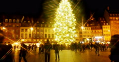 Christmas tree magic atmosphere star filter Stock Footage