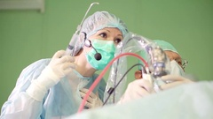 Endoscopic transnasal surgery. Stock Footage