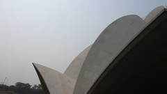 Bahai Lotus temple Stock Footage
