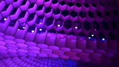 Futuristic ceiling disco club with spectacular lights Stock Footage
