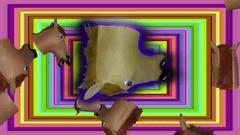 Rectangular Horse Head Tunnel Large Head Stock Footage