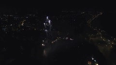 Aerial view of a fireworks display. Stock Footage
