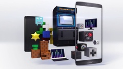 Divided smart phone, mobile, Explain various video game, internet game . Stock Footage