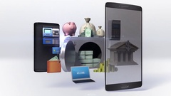 Divided smart phone, mobile, Management bank account, internet, online banking. Stock Footage