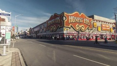 Toronto Honest Eds Iconic Building HyperLapse Stock Footage