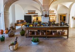 Kitchen in Pena Palace - Sintra Portugal Stock Photos