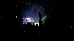 Girls dancing at concert. Close-up Stock Footage