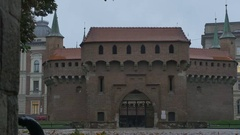 The Krakow Barbican Gate Stock Footage