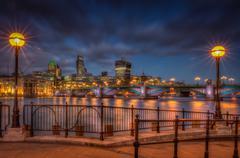 Southwark Bridge panorama Stock Photos