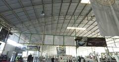 Thai gym floor scene panning shot vertical Stock Footage