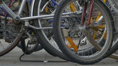Bike Wheels and Parts Stock Footage