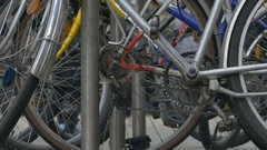Bicycles Mechanical Components Stock Footage