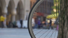 Bicycle and Crowd Stock Footage