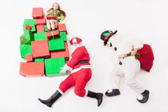 Black Friday 2016, Santa and Snowman delivering gift boxes Kuvituskuvat