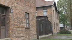Auschwitz Extermination Camp Building Stock Footage