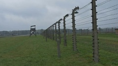 Electric Fence at Nazi Camp Stock Footage