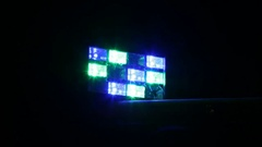 Disco light in the karaoke bar. Colorful background on the stage. Stock Footage