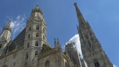 St. Stephen Cathedral in Vienna Stock Footage