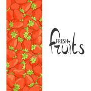 Juicy strawberries Stock Illustration
