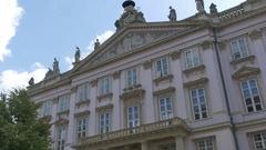 Mayor Palace in Bratislava Stock Footage