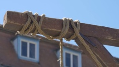 Hanging Rope in Wind Stock Footage