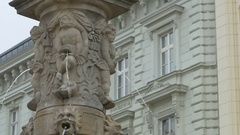 Old Fountain in Bratislava Stock Footage