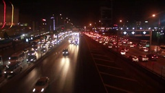 Traffic car lights  istanbul city Stock Footage