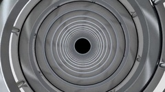 Rotating cylindrical tunnel. Stock Footage