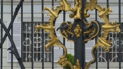 Gilded Lock Gate Stock Footage