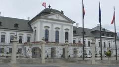 Bratislava Grassalkovich Palace Stock Footage