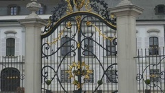 Gilded Gate Grassalkovich Palace Stock Footage