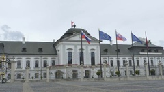 House of President of Slovakia Stock Footage