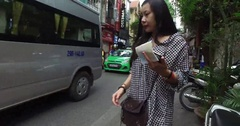 Lots of Action on the Streets Stock Footage