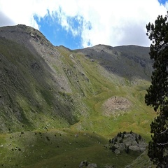 Time lapse footage from Vall de Nuria, valley in the mountain Pyrenees of Spain Stock Footage