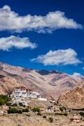 Likir Gompa Tibetan Buddhist monastery in Himalayas Stock Photos