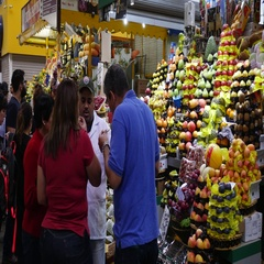 Municipal Market in Sao Paulo, Brazil Stock Footage