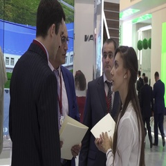 SOCHI, RUSSIA - : People communicate in the main hall of at Stock Footage