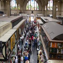 Municipal Market in Sao Paulo, Brazil Stock Footage