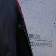 London Stock Exchange Group Sign Stock Footage