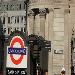 Bank of England Threadneedle Street Underground Tube Station Stock Footage