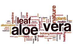 Aloe vera word cloud Stock Illustration
