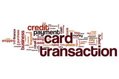 Card transaction word cloud Stock Illustration