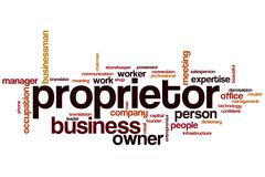 Proprietor word cloud Stock Illustration