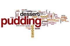 Pudding word cloud Stock Illustration